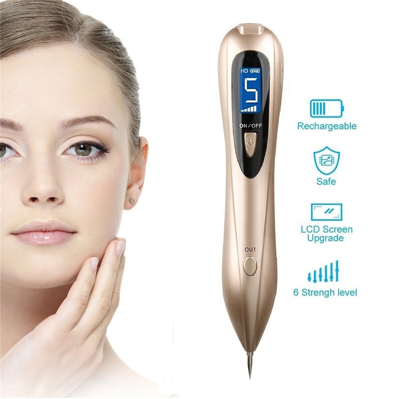 High Quality Electric Point Mole Pen Portable Freckle Warts Dot Mole Dark Spot Tattoo Removal Pen Beauty Skin Machine skin care