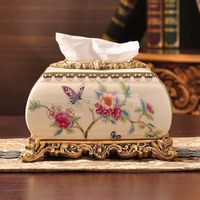 ceramic tissue boxes wedding gifts European pastoral style paper towels household decorations wedding rooms
