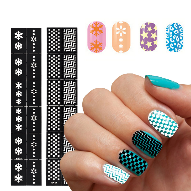 Diy nail art storage : Aliexpress buy pcs nail stamping tool diy art water decals hollow template stickers