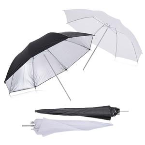 Image 5 - Andoer caméra Double Flash chaussure montage pivotant doux parapluie Kit doux parapluie + pied de lumière + Shoemount + support de Type B + sac de transport