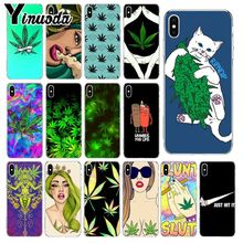 Yinuoda Abstractionism Art high weed Coque Shell Phone Case for iPhone 8 7 6 6S Plus 5 5S SE XR X XS MAX