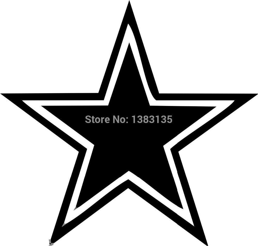 Hotmeini 5inch fashion outlined star car sticker vinyl for Five star windows