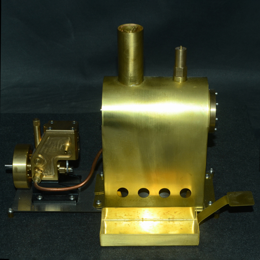 Surwish High Quality Mini Pure Copper Steam Engine Model Toy Creative Gift Set with Boiler G 1B