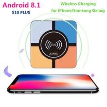 S10 Plus Android 8.1 TV Box RK3328 Quad Core 4GB RAM 32GB ROM Media Player 2.4G WiFi 4K HD Smart TV Box with Wireless Charging