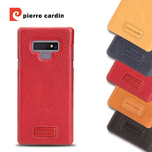 For Samsung Galaxy Note 9 Pierre Cardin Hot Sale Lichee Pattern Genuine Leather Phone Case Hard Back Cover Cases Free Shipping