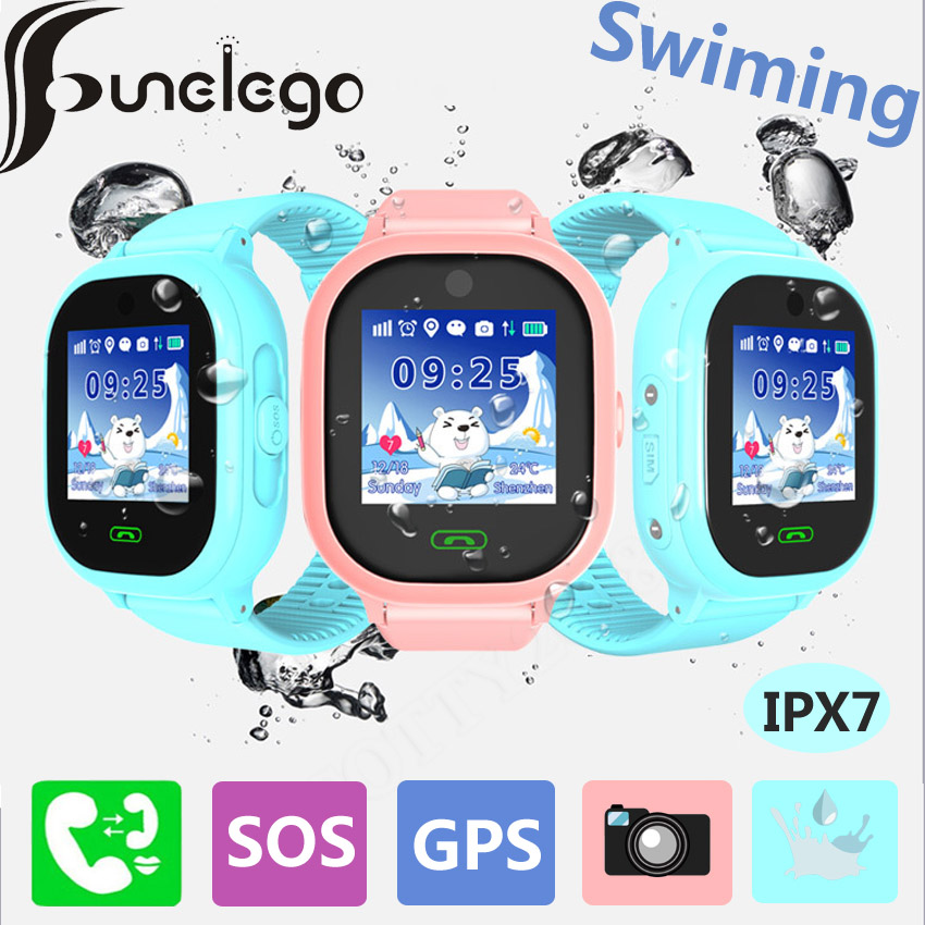 Funelego Waterproof Child GPS Watch Camera Touch Screen SOS Smart Watch Phone For Kids Deep Water Resistant Swimming SeTracker