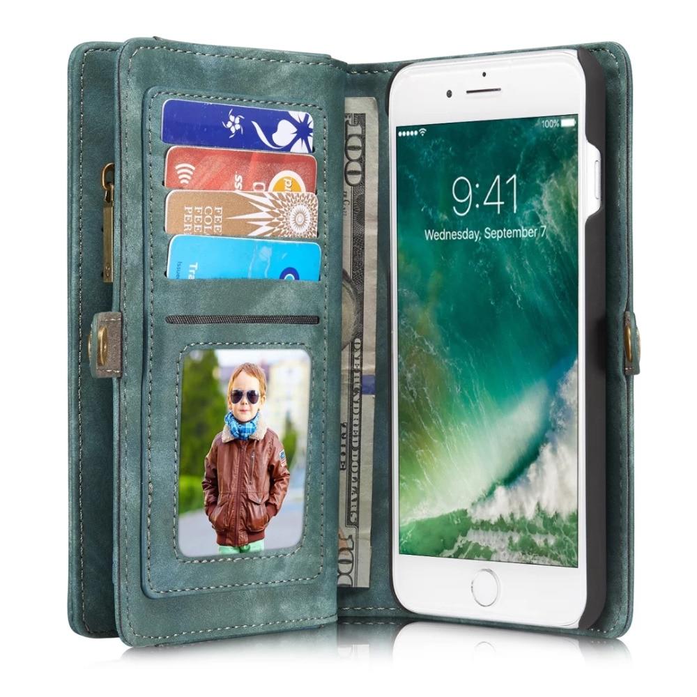 Цена за Caseme Флип кожаный чехол для iPhone 7 Plus Чехол Роскошные многофункциональный телефон сумка для iPhone 6 6 s 6 плюс 6 S плюс крышка Fundas