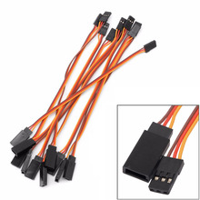 10pcs lot 150mm 15cm JR Male to female servos plug extension lead wire cable for remote