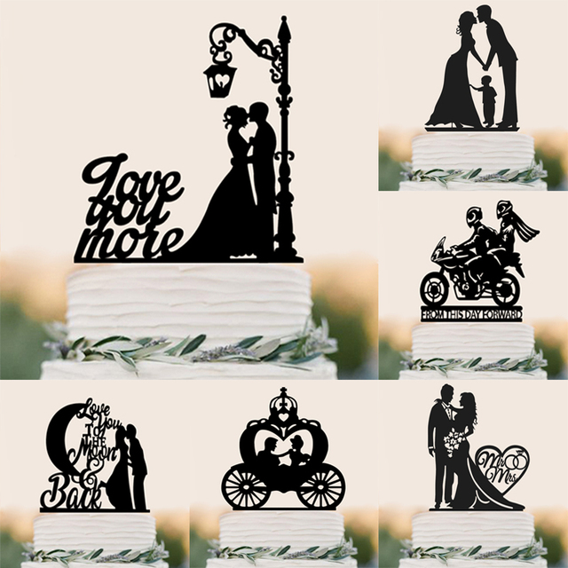 family style cake topper personalized classic couple wedding party birthday party anniversary bridal