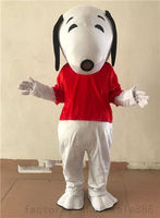 2018 Custom clothing color white dog mascot costume big head high quality fancy dress x'mas party dress Can be customized