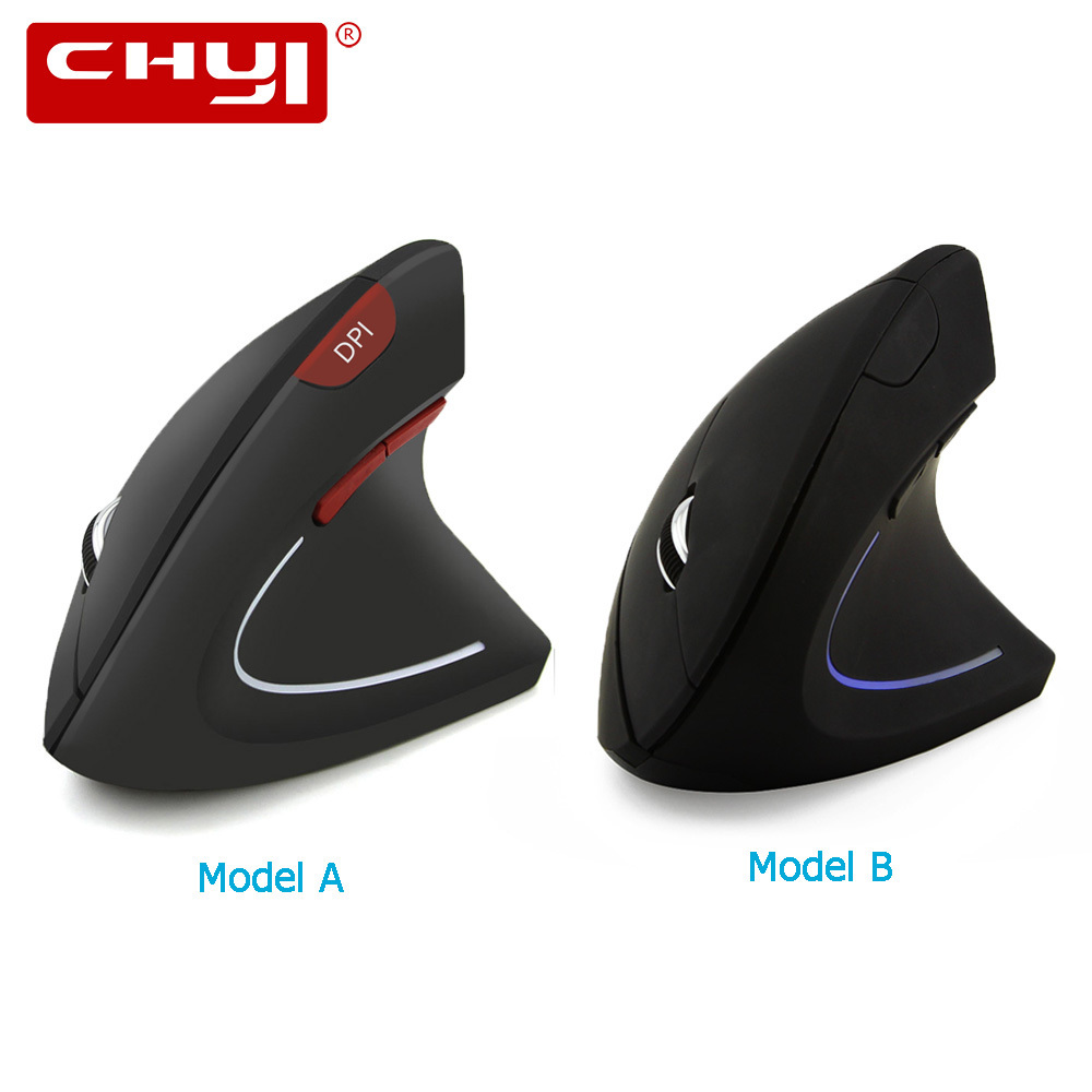CHYI Ergonomic Vertical Mouse Wireless Computer Gaming Mice 1600DPI Optical 5 Button Mouse Gamer With LED Light For Laptop PC
