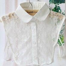 Mulheres da moda rendas camisa destacável coleiras vestuário acessórios de moda Colar Gargantilha Colar Falso Colarinho Da Camisa Do Vintage