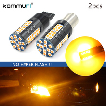 Фотография KAMMURI 2pcs Error Free High Power 21W Amber 3000K Turn Signal BAU15S/BA15S/T20 LED car Turn Signal Lights (No Hyper Flash)