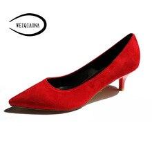 5 см классика на среднем каблуке не устал замшевые туфли для путешествий рабочая обувь тонкий каблук острый носок женская обувь на высоком каблуке