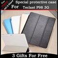 """Alta qualidade 3-pasta de Ultra Slim stand case Para Teclast p98 3g 9.6 """"Tablet, PU Couro Flip Tampa Do Caso para Teclast P98 3G"""