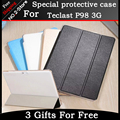 "High quality Ultra Slim 3-Folder stand case For Teclast p98 3g 9.6"" Tablet ,  PU Leather Flip Cover Case for Teclast P98 3G"