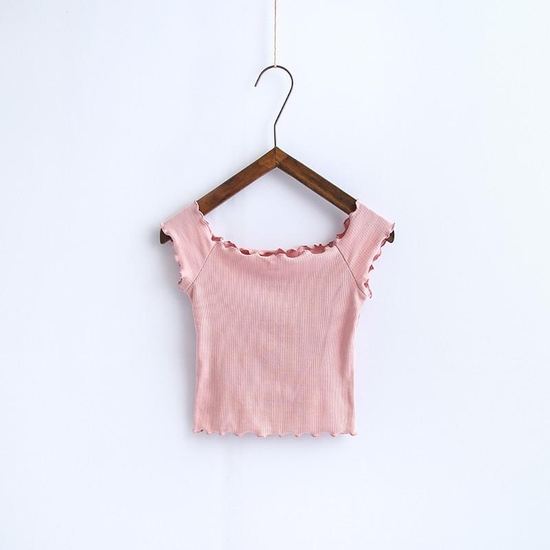 HTB1NaOGOVXXXXXqXpXXq6xXFXXXn - Striped Knitted Off Shoulder Slash Neck Short Sleeve T Shirt PTC 27
