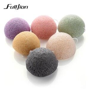 Image 5 - Fulljion 6 Colori Naturale Konjac Konnyaku soffio cosmetico spugna Facciale Viso Pulisce di Lavaggio Per La Cura Del Viso Viso Polvere di Trucco Strumenti