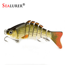 SEALURER  1Pcs/lot  10cm 12.5g Fishing Wobblers 7 Segments Swimbait Crankbait Fishing Lure Bait with Artificial Hooks