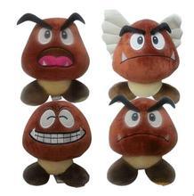 New Nintendo Super Mario Plush Toys 16cm Laugh Goomba Plush Soft Stuffed Toys Doll for Christmas