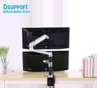 Mechanical Spring Full Motion 17 32 Inch Dual Monitor Holder Mount Arm Aluminum Monitor Support Max