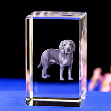 Cute Dog Laser Engraving 3D night Light Color Changing led table Lamp