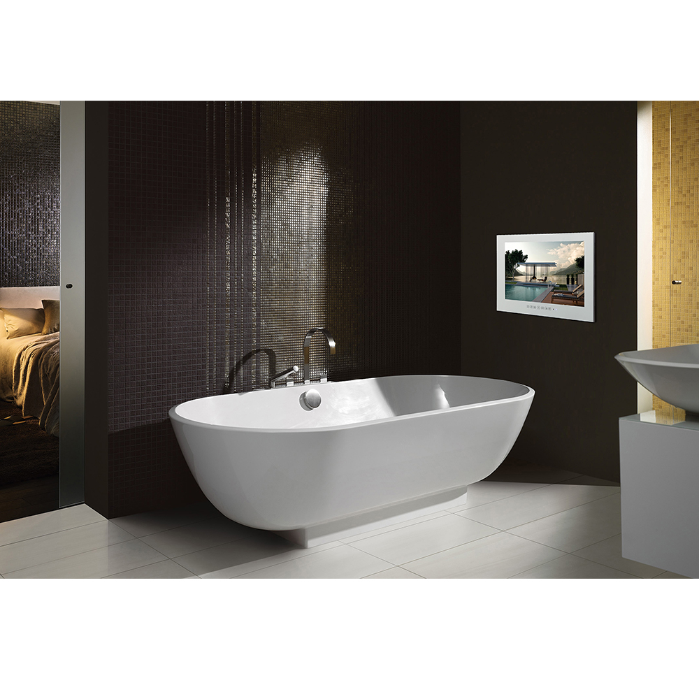 "HTB1NaOtazDuK1Rjy1zjq6zraFXal Souria 15.6"" Black Bathroom Waterproof LED Android 9.0 Smart Wi-Fi Shower Hidden TV Monitor Hotel Television"