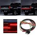 """60 """"5-Function Red Branco LEVOU Faixa de Luz flexível Bar Porta Traseira de Backup Reversa Freio/Cauda Turno Sinal De Luz para o Caminhão SUV captador"""