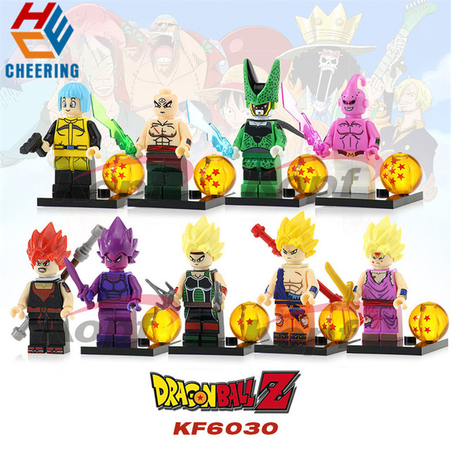 Single Sale Building Blocks Dragon Ball Z Goku Vegeta Perfect Cell Majin Buu Gohan Figures Bricks Gift Toys For Children KF6030