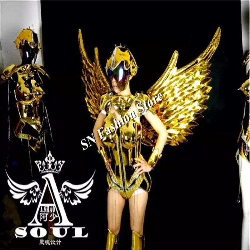 ES001 Vestido de baile de espejo dorado / disfraces / Ropa de alas de - Para fiestas y celebraciones - foto 3
