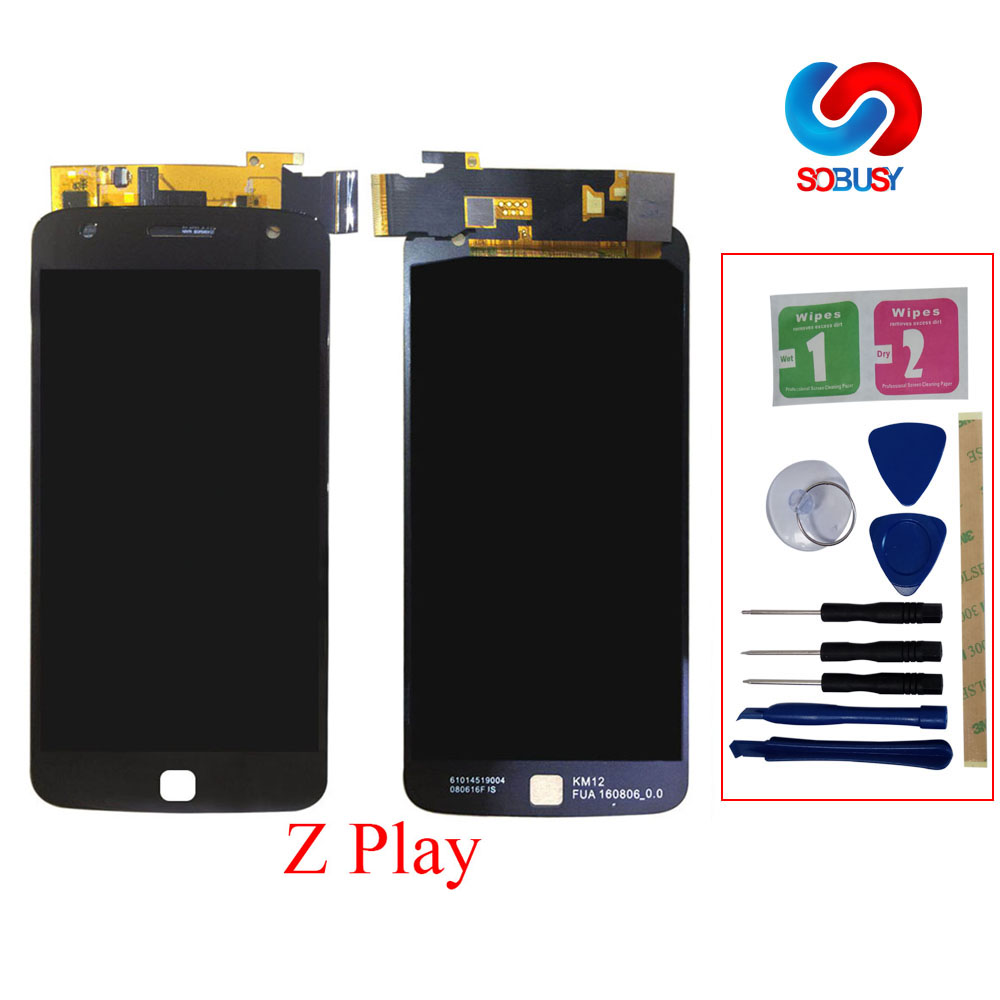 Super AMOLED LCD Display For Motorola Moto Z Play <font><b>XT1635</b></font> LCD <font><b>Screen</b></font> Phone LCDs Touch panel Digitizer Assemly replacement parts image