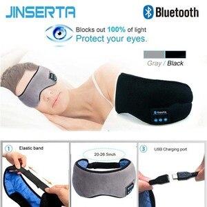 Image 2 - JINSERTA auricular inalámbrico por Bluetooth 5,0, máscara para dormir, cinta para la cabeza para teléfono, auricular blando para escuchar música, contestador