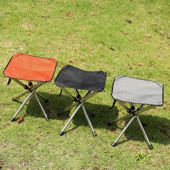 HobbyLane krzesło składane ze stopu Aluminium przenośny ultralekki do wędkowania Camping Beach Outdoor szkicowanie tanie i dobre opinie