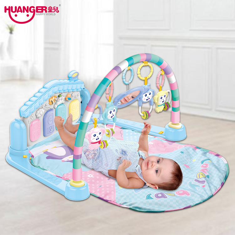 Huanger Baby Multifunction Play Rug Piano Fitness Music Mat Infant Fitness Carpet Educational Rack Toys pads цена