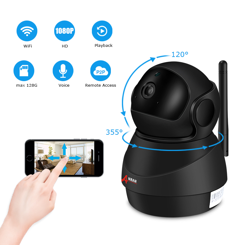 ANRAN 1080P Wifi Camera Home Video Surveillance Camera CCTV Night Vision Security Camera Two-Way Audio Baby Monitor 1920*1080 go-kart