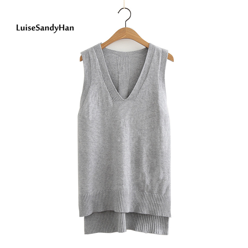 2020 Spring Summer O Neck Women Sweater Vest Sleeveless Knit Female Cotton Soft Elastic Solid Colore Pullovers