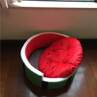 Ode Rin Pet Watermelon Family Comfortable Bed Summer Pet Nest Dog Kennel Fruit Nest Nest Small
