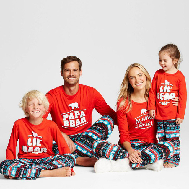 Christmas Polar Bear Family Matching Pajama Set Cotton Chill Out Matching Family  Pajamas 28a96dc6e