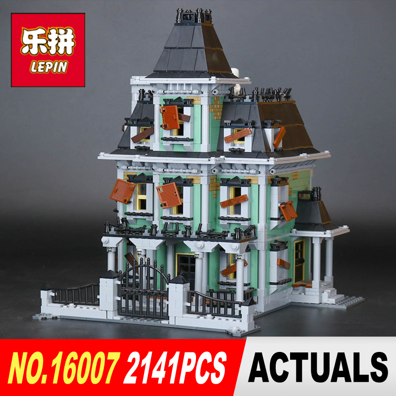 New LEPIN 16007 2141Pcs Monster fighter The haunted house Model set Building Kits Model Compatible With 10228 Children Toys Gift 2141pcs the haunted house model set building kits block toy 16007 diy monster fighter educational blocks toys for children