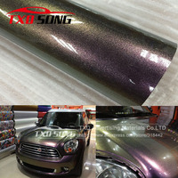 5M,10M,15M,20M/Roll Gold To purple Glossy Pearl Chameleon Vinyl Wrap Film With Air Bubble Free Gloss Chameleon Car Wrap Sticker