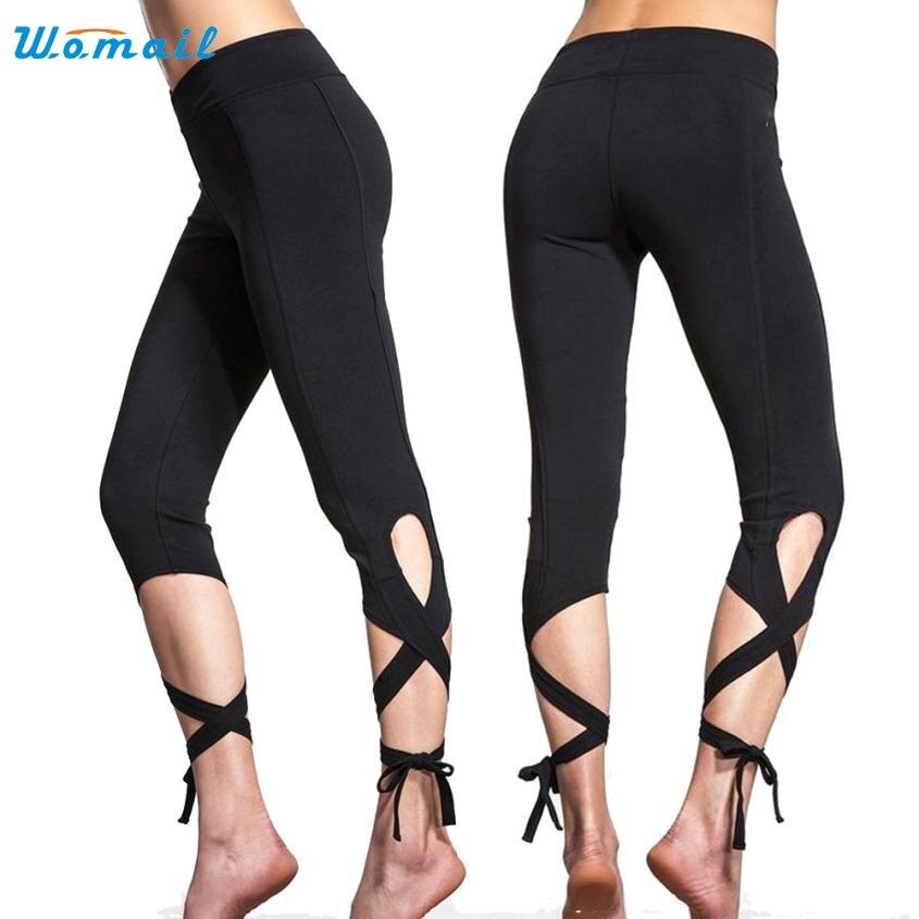Prix pour 2017 vente chaude femmes yoga pantalon femelle sport gym workout recadrée leggings salon de remise en forme de sport pantalon beau au8x13