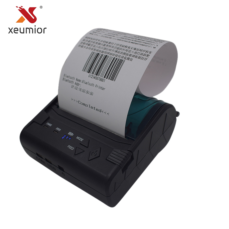 цена 80mm POS Bluetooth Printer Android IOS Mobile Mini Portable Thermal Receipt Printer Handheld Pos Printer Label System SM-8003BT в интернет-магазинах