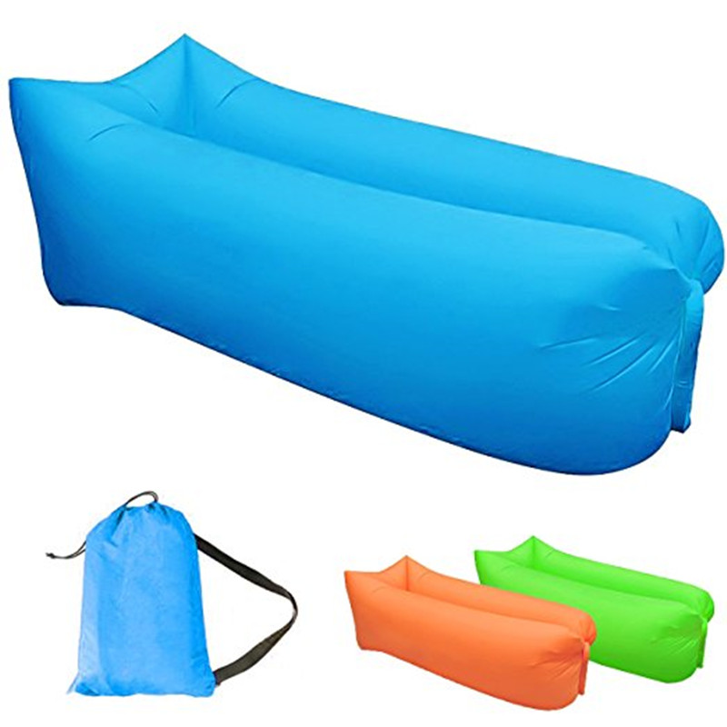 New Brand Outdoor lazy sofa 3 Season sleeping bag portable folding rapid air inflatable sofa Adults Kids Beach blow-up lilo bed norent brand waterproof inflatable mattress camping beach picnic air sofa outdoor swimming pool lazy bed folding portable chair