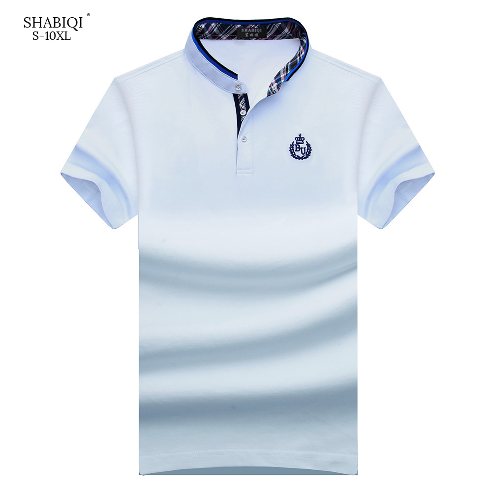 SHABIQI NEW Brand Men shirt Men   Polo   Shirt Men Short Sleeve Stand Collar   Polos   Shirt T Designer   Polo   Shirt 6XL 7XL 8XL 9XL 10XL