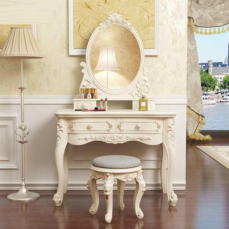 El Dormitorio Coiffeuse Avec Miroir Aparador Gaveta Cômoda Vaidade Mobília Do Quarto Quarto Penteadeira Penteadeira Coreano