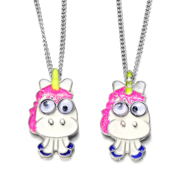 Cute 1 Pair Horse Best Friends Bff Necklace Set For Sisters Lovely