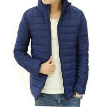 9 Colors Mens Winter Light Coats Jackets Ultralight Cotton-padded jackets Regular Slim Men's Casual Coat outerwear 3XL