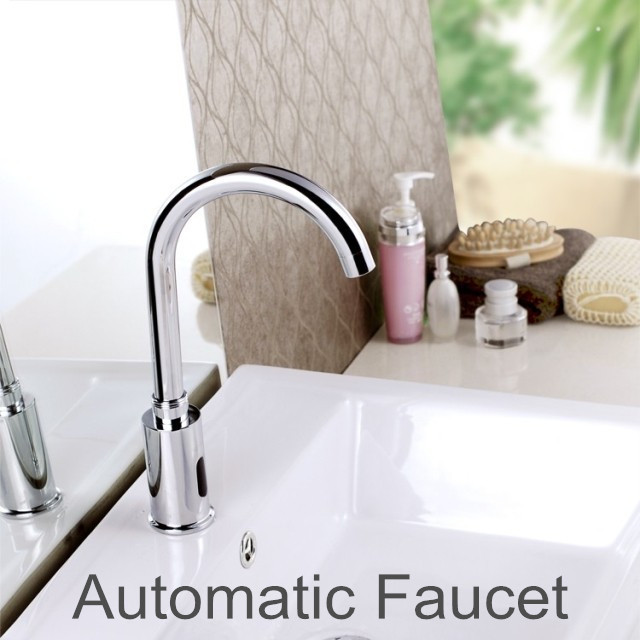 Brass automatic kitchen faucets single cold water