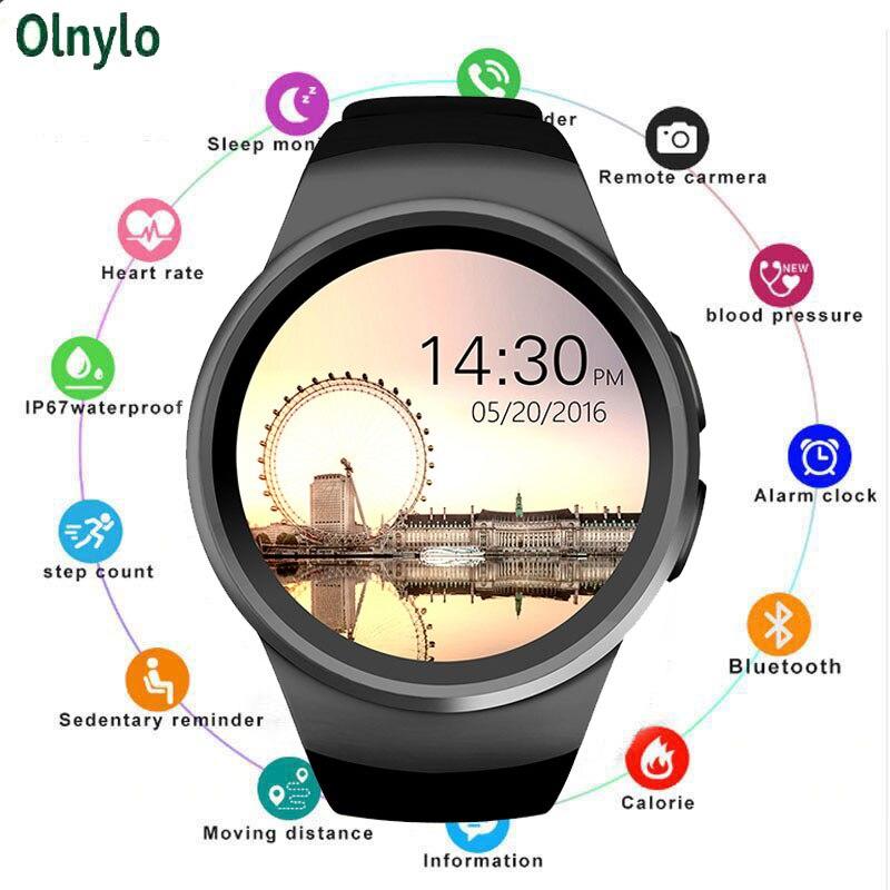 KW18 montre intelligente hommes prennent en charge la carte SIM TF Bluetooth appel fréquence cardiaque podomètre Modes Sport Smartwatch pour Android IOS Reloj Hombre