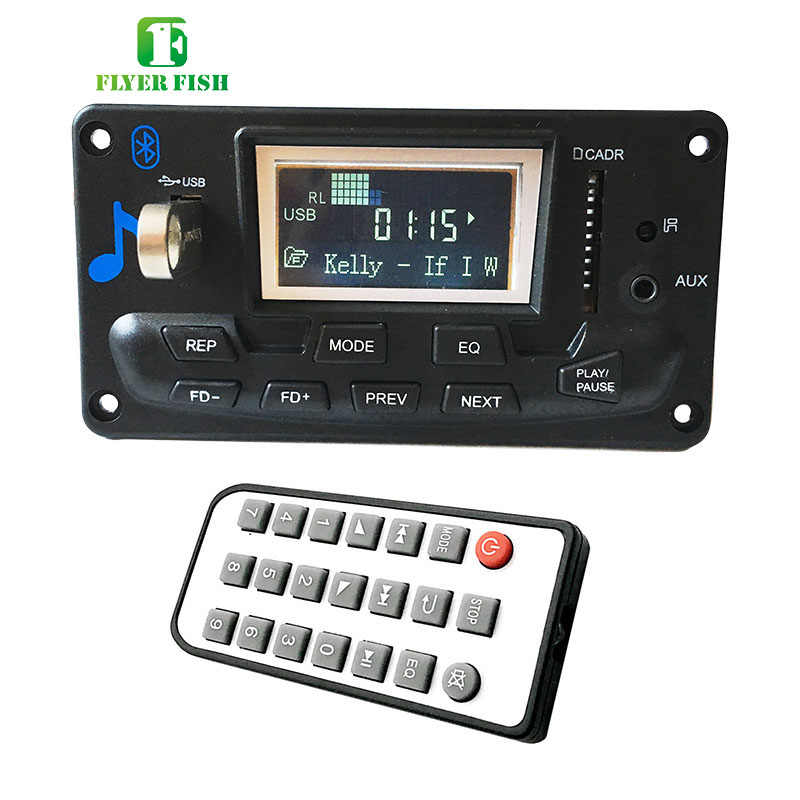APP Audio Bluetooth 4.0 Mp3 Player Board With Radio FLAC APE Digital Hifi USB LCD Aux spectrum Folder switch MP3 Decoder Module